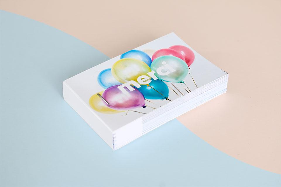flipbook cadeau ballons merci