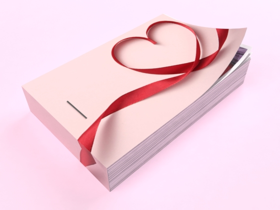 flipbook saint valentin rose rouge coeur ruban