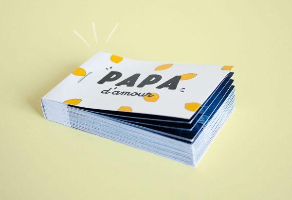 flipbook personnalisé fête des pères jaune