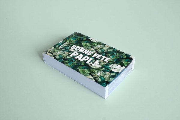 folioscope vert motif jungle bonne fête papi