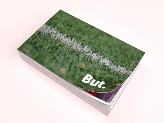 flipbook vert pelouse foot but fond rose